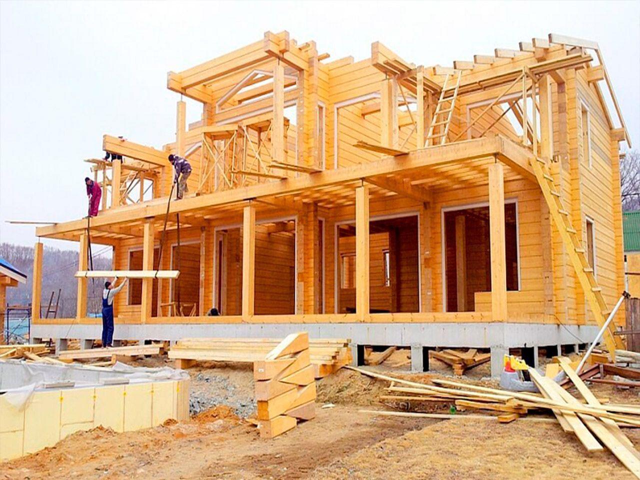 Основные этапы строительства домов из бруса