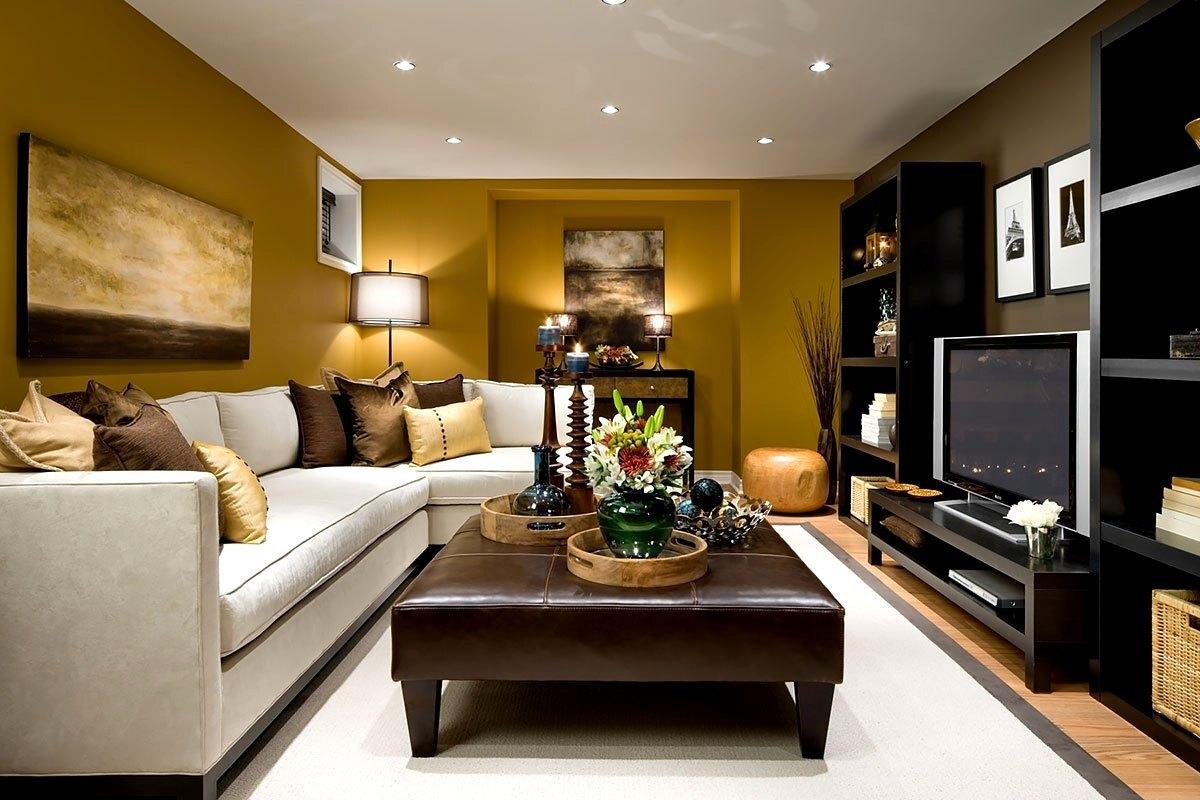 Интерьер гостиной — дизайнерские идеи