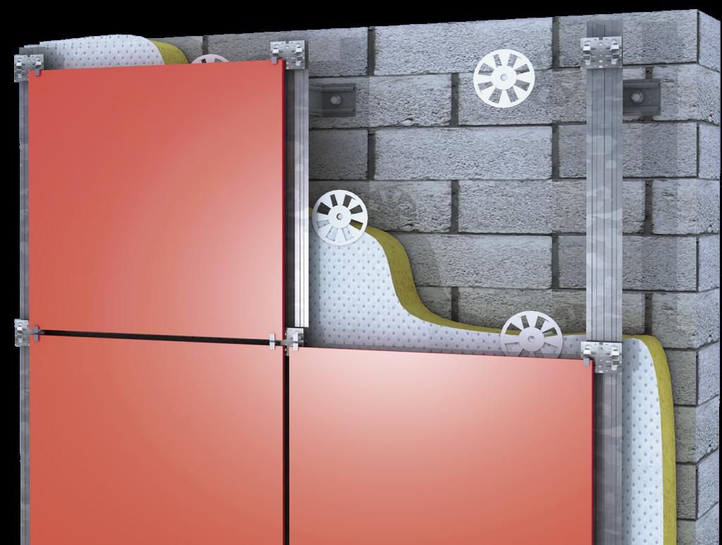 Навесные фасадные системы из керамогранита